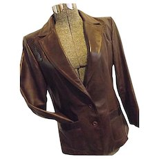 ROCKABILLY Vintage Lady Scully Womens Western Leather Jacket Blazer Lizard Skin 14 Medium