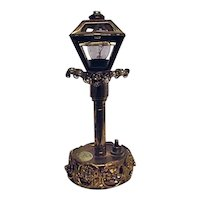 RARE Original by Robert DeMario Encrusted Lamppost Vanity Night Light Lamp