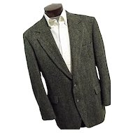 Vintage Nordstroms Mens Harris Tweed Blazer Sport Coat 44 Long Gray
