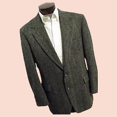 Vintage Nordstroms Mens Harris Tweed Blazer Sport Coat 44 Long Gray