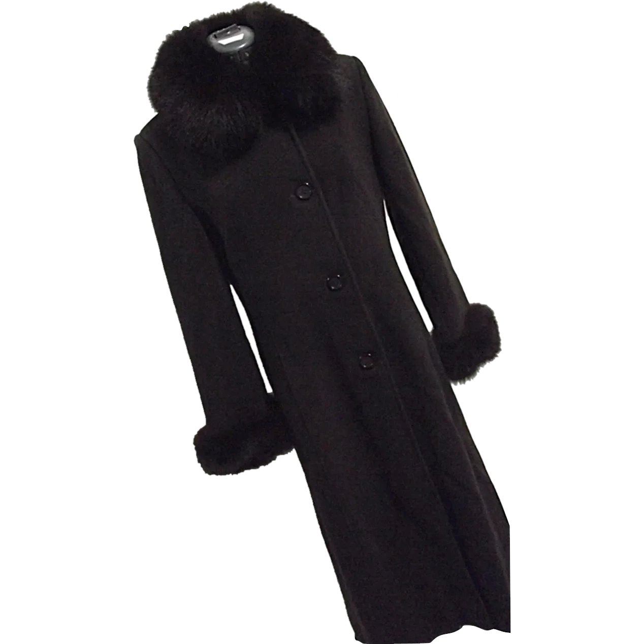 wide varieties new high quality low cost NICE Marvin Richards Wool/Cashmere Full Length Womens Coat Genuine ...