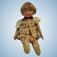 1920s Loise Kampes Kamkins Cloth Doll with Molded Painted Face