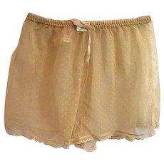 WONDERFUL NOS Vintage 1960s Jezebel Womens Ecru Sheer Lace Tap Pants Lg 100% Nylon