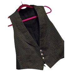 Antique Vtg Franklin Simon & Co NY Mens Waistcoat Vest Silk Buttons Sm