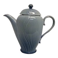 Vintage Mikasa Spring Cornflower Blue by Larry Laslo Tall Coffeepot with Lid