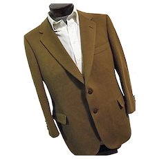 Vintage Lanvin Paris NY Mens 100% Camel Hair Blazer Jacket 42R