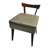 FANTASTIC MCM Mid Century Modern Sewing Chair With Storage Seat Sears