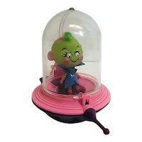 RARE 1968 Mattel Martian LIddle Kiddle Kozmic Little Green Meenie Doll Spaceship