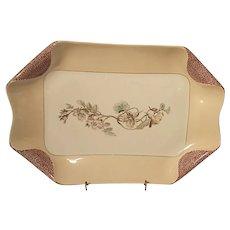 1880s Haviland Limoges H3539 Napkin Fold Large Peach Rectangle Platter
