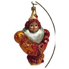 Vintage Christopher Radko Glass Ornament Girl Clown Dear To My Heart
