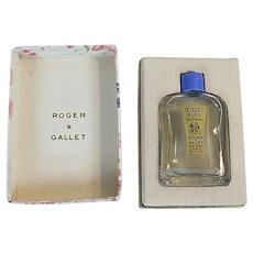 Vintage Roger & Gallet Ceillet Bleu Blue Carnation Miniature Dummy Bottle Perfume Box