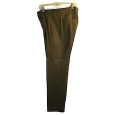 DEADSTOCK Vintage 1950-60 Hall Brown Knoxville Mens Green Wool Tweed Pants