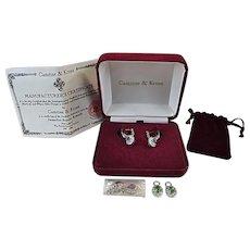 IN BOX Disc JBK Jacqueline Bouvier Kennedy Camrose Kross Interchangeable Earrings