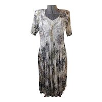 NOSTALGIA Vintage 1980s Cottagecore Womens Dress Broomstick Lace Over Slip Rayon