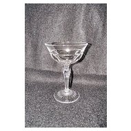 Josair Fine Crystal Empire Pattern Champagne Goblet