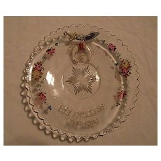 Hand Painted Shriners Plate 1906 Los Angeles Pittsburgh