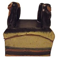Archie Bray Foundation Mid Century Pottery Theatre Box People On Lid Surbert