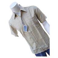 NOS Pendleton Woolen Mills Umatilla Mens Gold Plaid Shirt Sm Wool TAG