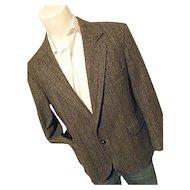 Pendleton Woolen Mills Mens Dk Gray Tweed Hunting Blazer Jacket 42 Short