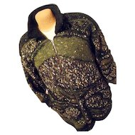 WARM Vintage Lilly of California Womens Shaggy Wool Sweatercoat M Quilt Liner