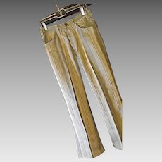ATOMIC Vintage Levi's Sta-Prest BIG E Mens Striped Tweed Pants Taupe 30W 29L