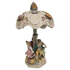 1907 Von Schierholz Dresden Porcelain Lithophane Lamp Germany Children