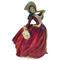 BEAUTIFUL Royal Doulton Autumn Breezes Lady Woman Figurine