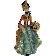 LOVELY Vintage 1959 Goebel Porcelain Flower Lady Figure FF274