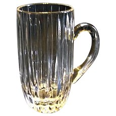 "Mikasa PARK LANE 7"" Tall Beer Stein Mug Crystal Glass Discontinued"