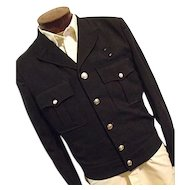 Vintage 1930s Fechheimer Mens Gabardine Fire Dept Dress Jacket Med Lg
