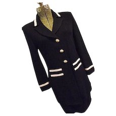 WONDERFUL St John Collection Marie Gray Womens 2PC Santana Knit Skirt Suit Navy 2