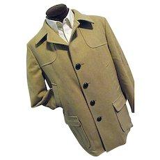 CLASSIC Vintage 1960s Pendleton Mens 100% Smooth Wool Camel Car Coat 44 EXCELLENT