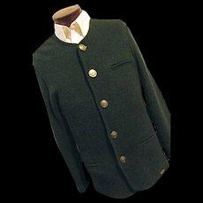UNUSED Vintage Giesswein Austria Mens Green Boiled Wool Walking Sweater Trachten 38 L