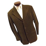 Giorgio Armani Le Collezioni Italy Mens Wool Bld Brown Blazer Sport 42