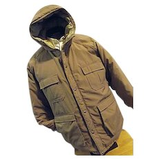 WARM Vintage Woolrich Prime Northern Goose Down Mens Parka Coat Lg Hood Puffer Tan