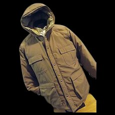 WARM Vintage Woolrich Prime Northern Goose Down Mens Parka Coat Lg Hood Puffer Tan