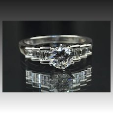 1.65 Carat Diamond Engagement Ring / 1.01 Center / EGL Certified