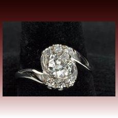 1.01 Old European Cut Diamond Wedding Ring
