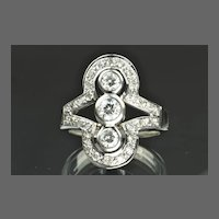 1.20 Carat Transitional Cut Diamond Ring