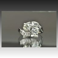 1.55 Carat Twin Diamond Ring