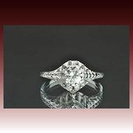 Vintage Solitaire Engagement Ring / .40 Carat