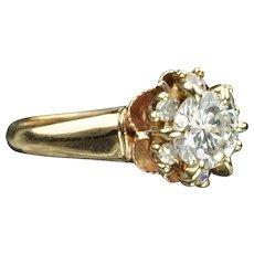 .98 Carat Diamond Engagement / Wedding Ring / .80 Center