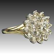 1.60 Carat Cluster Diamond Ring