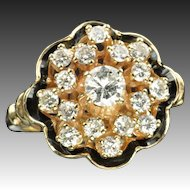 1.15 Carat Georgian Style Diamond Cluster Ring