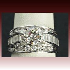 2.31 Carat Diamond Engagement / Wedding Ring / 1.18 Center
