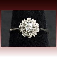 .35 Carat Old Mine Cut Diamond Engagement Ring