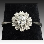 .35 Carat Old Mine Cut Diamond Engagement Ring