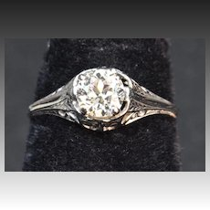 .60 Carat Old European Cut Diamond Engagement Ring