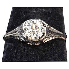 .60 Carat Old European Cut Diamond Engagement Ring