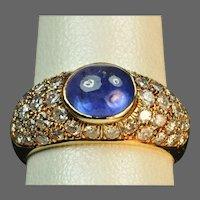 2.5 Carat Sapphire and Diamond Ring